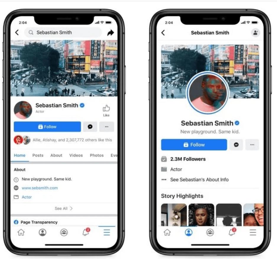 Facebook cambia il layout delle pagine